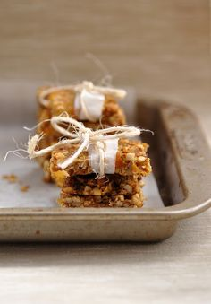 Coffee orange nut bars (mostly paleo)    Great snack ideas for the hubby to travel with.