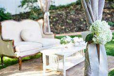 Party tent.  Wedding tent.  outdoor wedding.  Hydrangeas