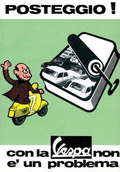 Publicité Vespa Vintage Parking