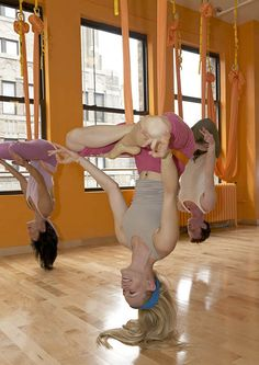 more anti-gravity yoga. so cool!