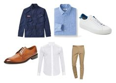 """""""My Kinda guy"""" by kea-mac on Polyvore featuring Barbour, Dsquared2, Loewe, Uniqlo, Wall + Water, Givenchy, mens, men, men's wear and mens wear"""