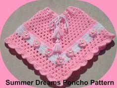 SUMMER DREAMS GIRLS CROCHET PONCHO PATTERN