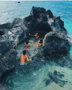 I wish I could see what it is like to sit in the pool and feel the sea   while sitting in the rocks.
