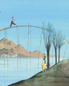 El amor espera al otro lado del puente. Magia y poesía en las ilustraciones de Aljoscha Blau.