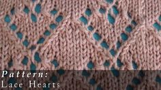 Pattern  |  Lace Hearts (+playlist)