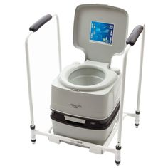 The steel Porta Potti Qube Support Frame is height adjustable and provides support for users of the Porta Potti Qube Also comes with 4 non slip feet - VAT Exemption Available. Shower Commode Chair, Flush Toilet, Adjustable Beds, Frame, Flushed Away, Picture Frame, Toilets, Frames