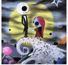 Cute mini love Sally and jack Emo Pics, Emo Pictures, The Night Before Christmas, Nightmare Before Christmas, Emo Art, Jack And Sally, Disney Characters, Fictional Characters, Room Ideas