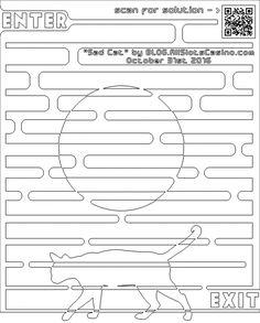Sad Cat Coloring Maze