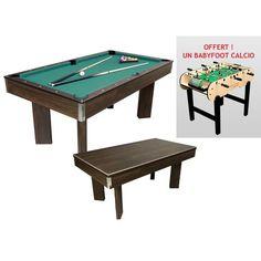 "Cortes Games - Table de billard / Table dînatoire ""FALCONE""+ Babyfoot ""CALCIO Achat/Vente Tables de billard   Rue du commerce"