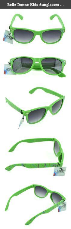 56bf014926db Belle Donne-Kids Sunglasses Fashion Children eyewear 100% UV  Protection-Green. Belle