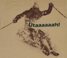 Vintage Utah Skier T-shirt.