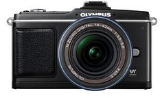 Olympus E-P2 12.3 MP Micro Four Thirds Interchangeable Lens Digital Camera with 14-42mm f/3.5-5.6 Zuiko Digital Zoom Lens (Electronic View Finder not included). 12.3-megapixel interchangeable lens digital camera; Micro Four Thirds format. Includes 14-42mm f/3.5-5.6 Zuiko digital zoom lens; optional Electronic View Finder not included, sold separately. 3-inch HyperCrystal LCD with Live View function; Continuous Autofocus (C-AF) tracking system. Record HD video with high-quality audio; Full...