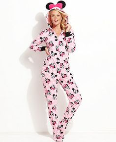 Minnie Mouse Hooded Footed Pajamas @Erica S. (tbci) Minnie or Mickey?