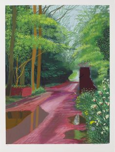David Hockney<br> The Arrival of Spring in Woldgate, East Yorkshire in 2011 (twenty eleven)<br> - 11 May<br> iPad drawing printed on paper<br> 55 x 41 in. x cm)<br> Edition of Private collections David Hockney Ipad, David Hockney Art, David Hockney Paintings, David Hockney Landscapes, Pop Art Movement, Spring Tree, Ipad Art, Alberto Giacometti, Dark Art