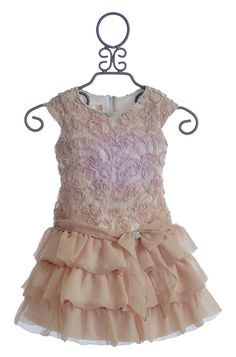 Isobella and Chloe Girls Dress in Champagne $43.50 this is a beautiful dress
