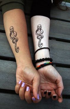 These Dark Mark tattoos.   Community Post: 25 Bewitching Gifts All Slytherins Need In Their Lives