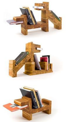 What a neat little set of bookshelves for a model apartment.    http://www.behance.net/gallery/pack-of-dogs/232856