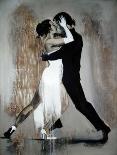 Tango by Yuliya Volynets Shall We Dance, Lets Dance, Tango Art, Tango Dancers, Kinds Of Dance, Dance Paintings, She's A Lady, Partner Dance, Argentine Tango