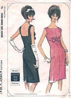 1960s Vintage McCall's Pattern No. 7327 Misses' Junior Dress Size 13 Junior. $15.00, via Etsy.