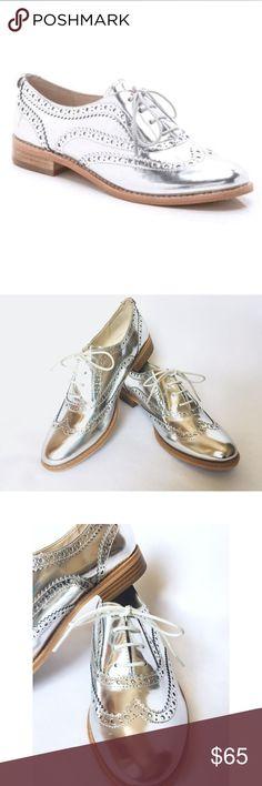 NWOT Sam Edelman Silver Oxfords NWOT Sam Edelman Silver Oxfords, bought new for a photo shoot, never worn, no creases, no scuffs Sam Edelman Shoes