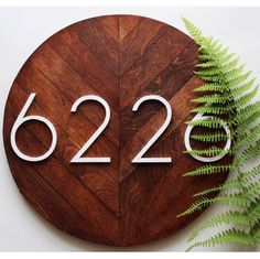 Shop our house number plaques! Each one handcrafted and made to order.