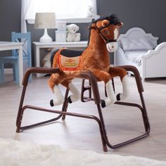 Tek Nek Toys Rockin' Rider Diamond the Talking Spring Horse  -  Click image twice for more info - See a larger  selection of Baby Rocking and Spring Ride on at http://zbabybaby.com/category/baby-categories/baby-and-toddler-toys/baby-rocking-and-spring-ride-ons/  - gift ideas, baby , baby shower gift ideas, kids « zBabyBaby.com