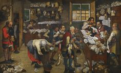 Pieter Brueghel the Younger BRUSSELS 1564 - 1637/8 ANTWERP THE VILLAGE LAWYER'S OFFICE