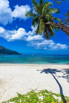 Baie Beau Vallon Beach on Mahé Island in the Seychelles. #Seychelles #Beaches