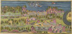 Le rapt de Sita par Ravaa, École du Rajasthan, Jodhpur, vers 1775. Gouache et or sur papier. Mehrangarh Museum Trust, Jodhpur. http://www.ramayanabook.com/