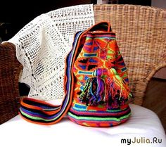 Жаккард крючком - яркая сумка с этническим орнаментом: Дневник группы «ВЯЗАНИЕ»: Группы - женская социальная сеть myJulia.ru
