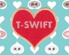 I HEART T-SWIFT Patch (Free Shipping)