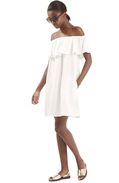 Topshop Ruffled Off the Shoulder Dress available at #Nordstrom