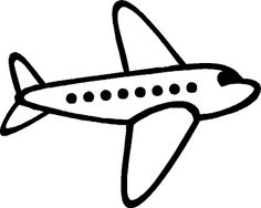 Airplane clipart...The simple silhouette would be great for using a projector to make it larger for making a wall poster or something.
