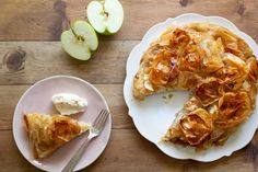 Light Desserts, Just Desserts, French Apple Pies, Longest Recipe, Phyllo Dough, Cooked Apples, Granny Smith, Family Meals, Food Videos