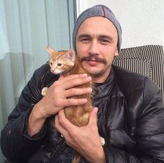 James Franco's new kitten. 11/15/14