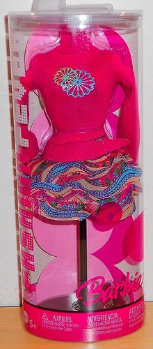 2006 Barbie Fashion Fever Pink Long Sleeve Sweater and Print Skirt | eBay