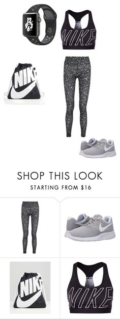 """work out"" by shannann-1 ❤ liked on Polyvore featuring NIKE"
