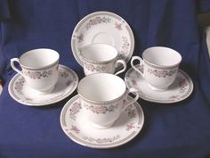 Trisa, China, Dinnerware pattern #1560 set 4  Cup and saucer(S) #Trisa
