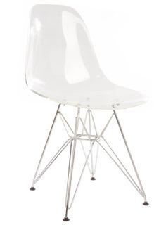 The Matt Blatt Replica Eames DSR Side Chair - Acrylic Clear