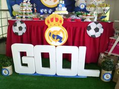 ideas paras cumpleaños...tematica Real Madrid...genydecorations
