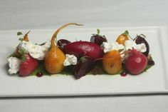 Beet salad with goat cheese mousse from Enotria, one of the Sacramento farm-to-fork restaurants.