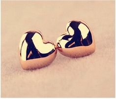 E358 Hot Selling Earing New Gold Silver Plated Heart Stud Earrings Personality For Women Wedding Jewelry Accessories Wholesale
