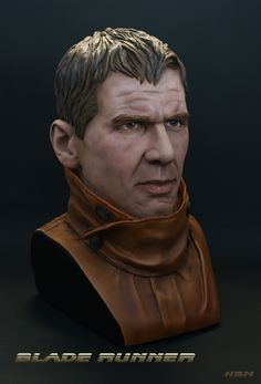 """""""Just finished up this scale bust sculpted by Mike Hill back about ten years ago. Deckard Blade Runner, Mike Hill, Rick Deckard, What A Relief, Sculpting, Scale, Movie Posters, Weighing Scale, Sculpture"""