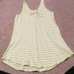 Lime green and white aerie tank top Lime green and white stripped aerie tank top aerie Tops Tank Tops