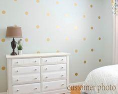 Gold Polka Dots Wall Decal Gold Polka Dot Decal by EasyWallArt