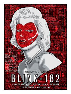 Brian Ewing blink 182 Mansfield Poster http://ift.tt/2cjrxJh... #Arsetculture #Inside_the_Rock_Poster_Frame #Gig_Posters