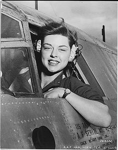 Beautiful WASP ferrying aircraft during the war