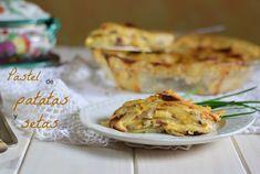 Pastel de patata y setas shitake - Cocinando en Mislares