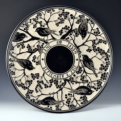 Katherine Hackl Pottery and Tiles - Sgraffitto Pottery