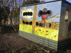 A bird hide created for RSPB Big Schools' Birdwatch.  Could be placed at the bottom of the paddock overlooking river